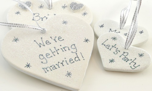 Wedding Favours Ceramic Hearts NEW