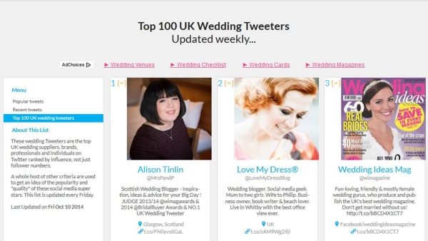 UK-top-wedding-tweeters