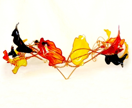 autumn leaves wire crown