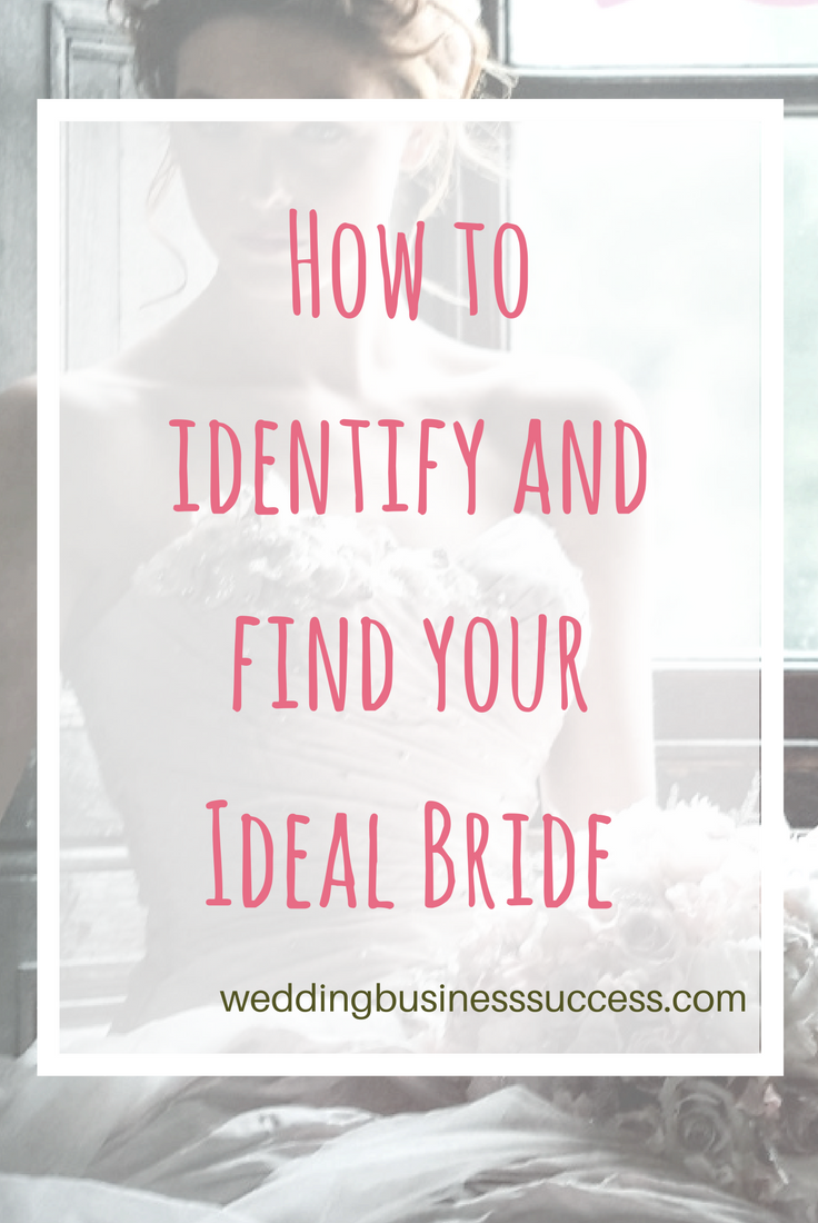 How to identify and find your ideal client for your wedding business