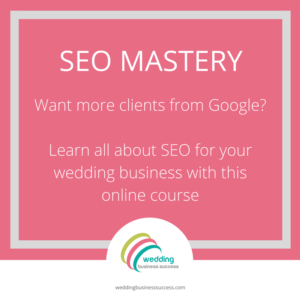 Wedding SEO Mastery course