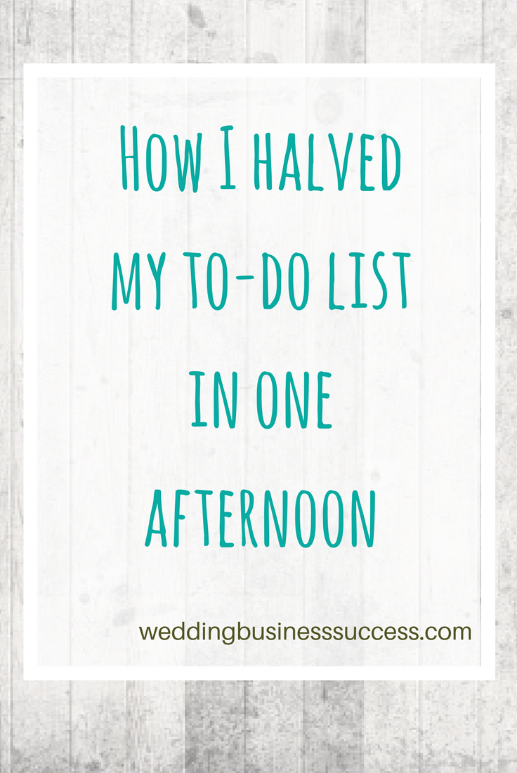 Entrepreneur and blogger Alison Wren tells how she cut her to-do list in half and stopped working on Sundays.