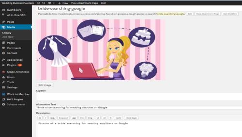 Adding Image tags in WordPress