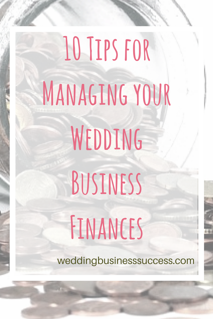 10 financial planning and management tips for wedding professionals