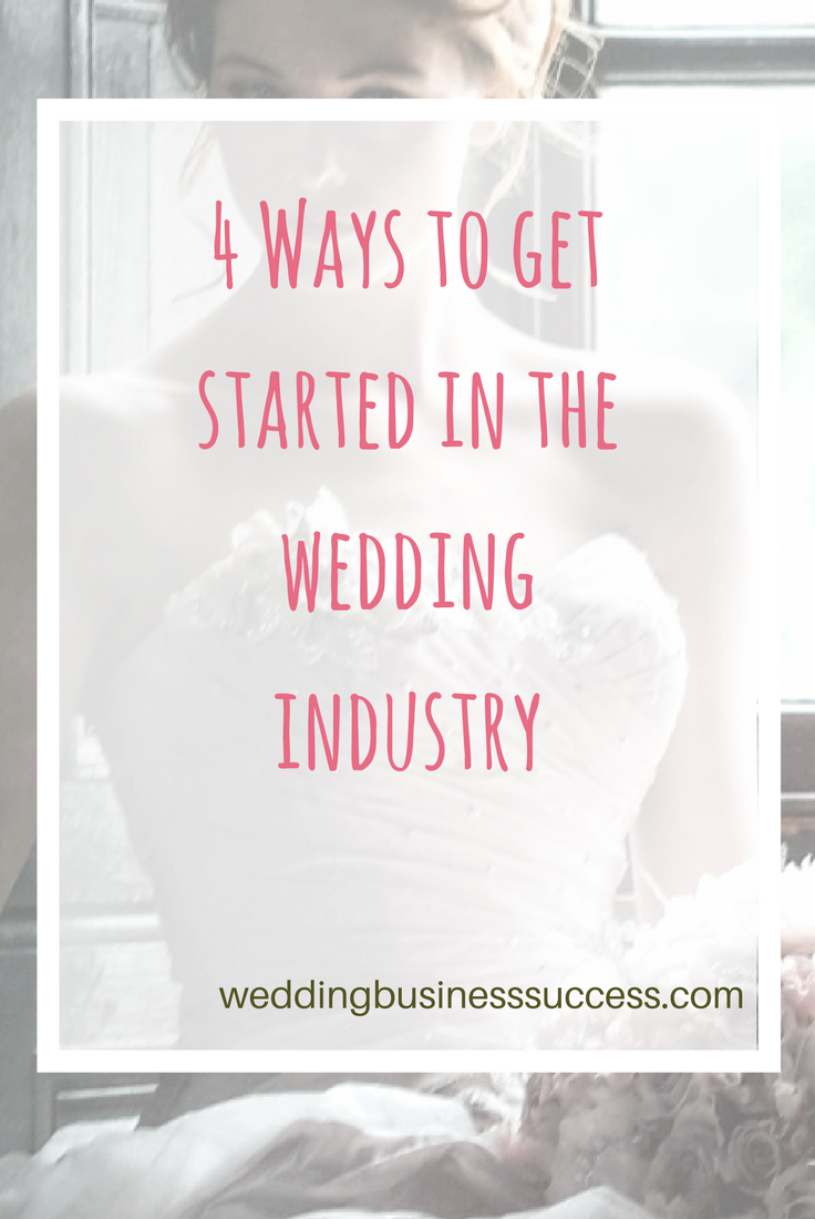 Dream of running your own wedding business? Here's how to get started.