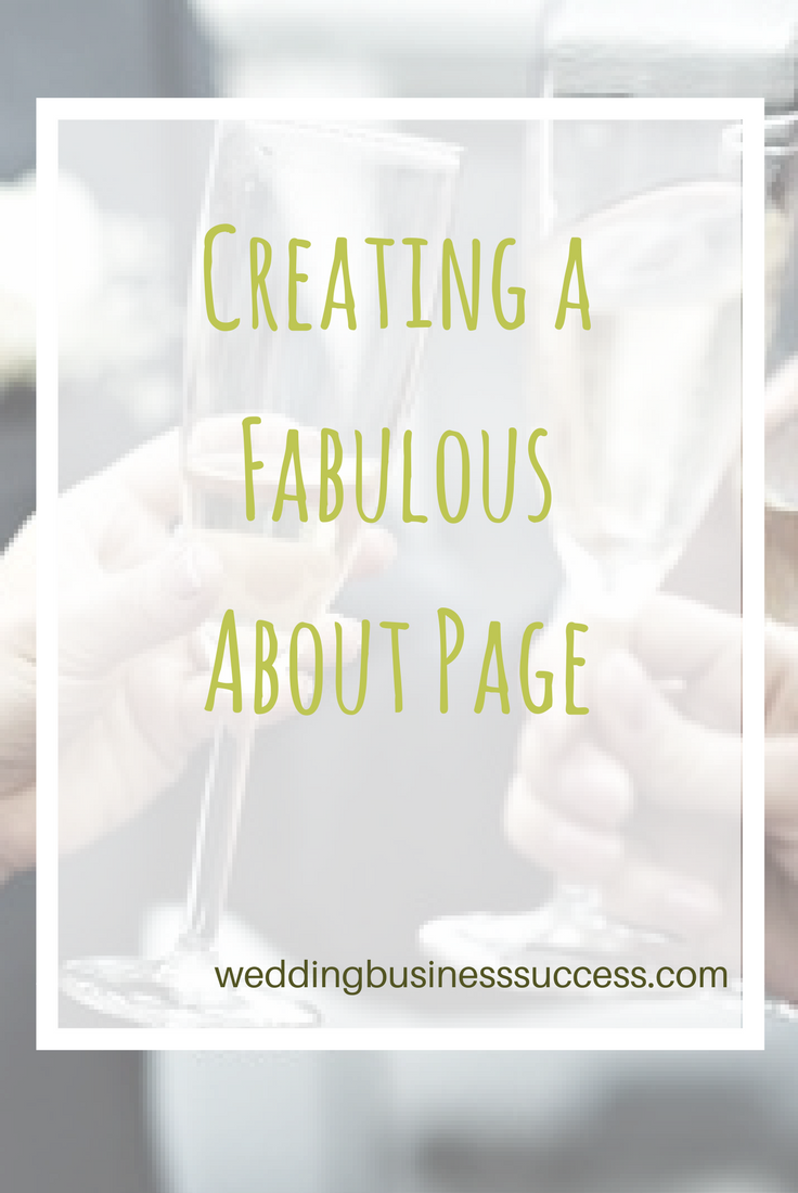 How to create an effective About page for your wedding business including 5 great examples.