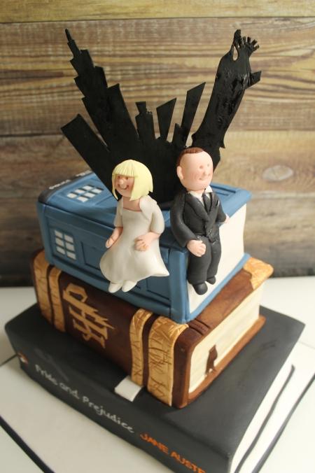 Debbie Gillespie themed wedding cake