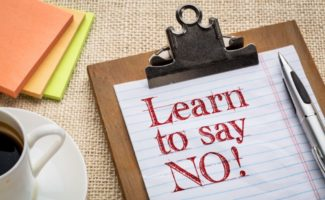 learn how to say no in your wedding business