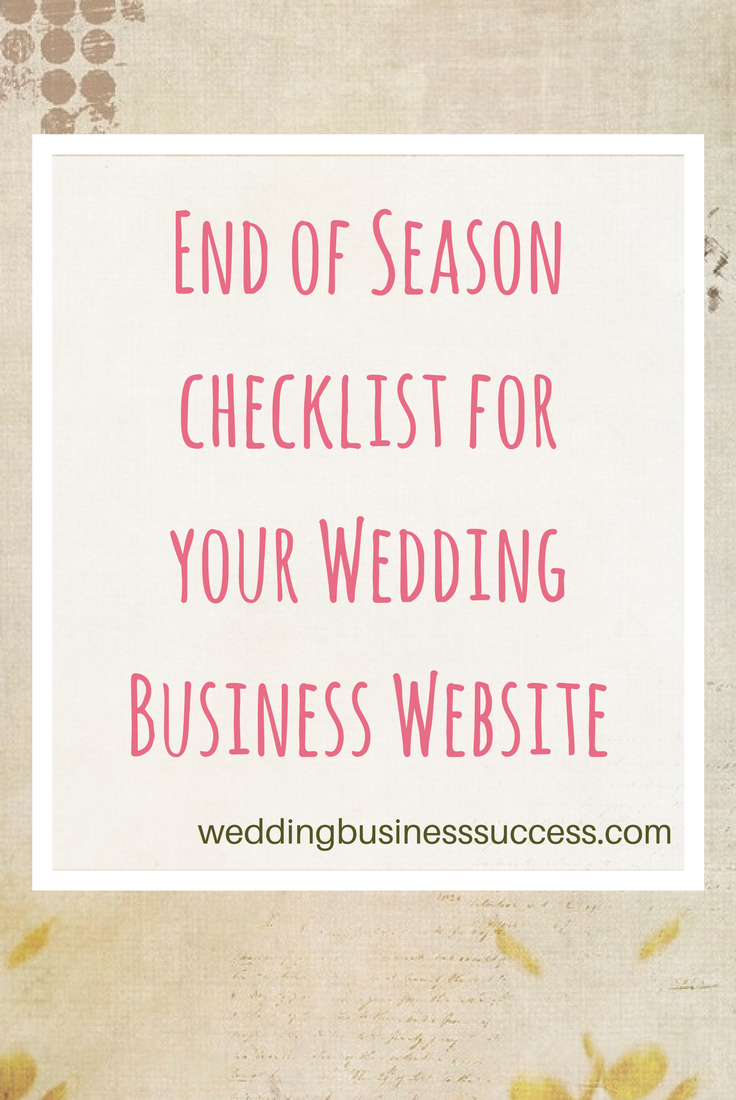 10 things to check when you review and refresh your wedding business website