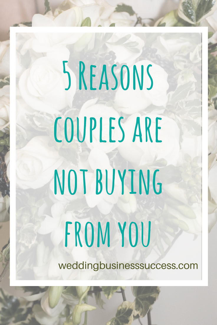Are you making these 5 common mistakes when it comes to marketing your wedding business