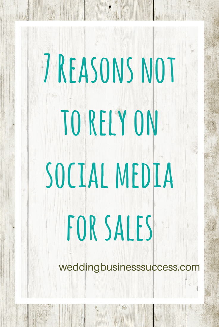 Why you should stop treating social media as a sales channel for your wedding business