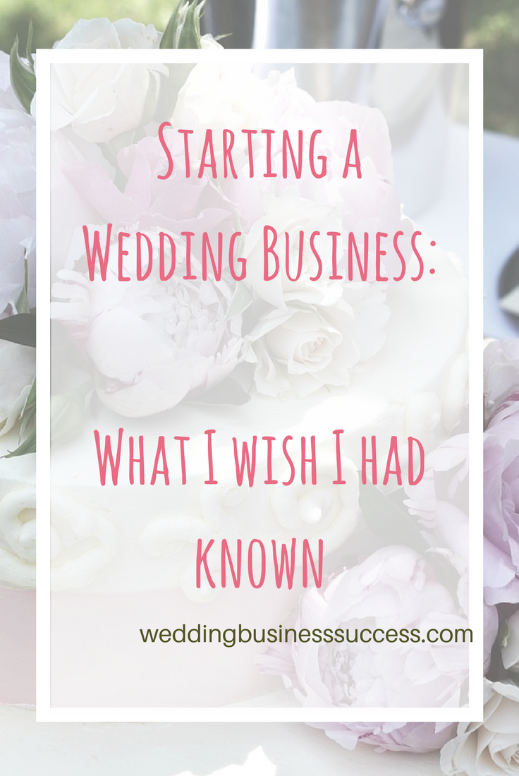 Wedding business owners share the things they wish they'd know about before they started