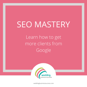 SEO course for wedding businesses