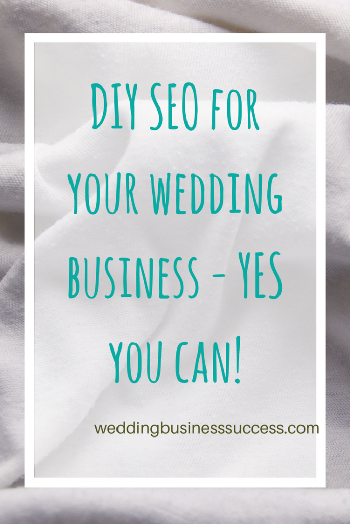 Why learning how to do your own search optimisation is good for your wedding business