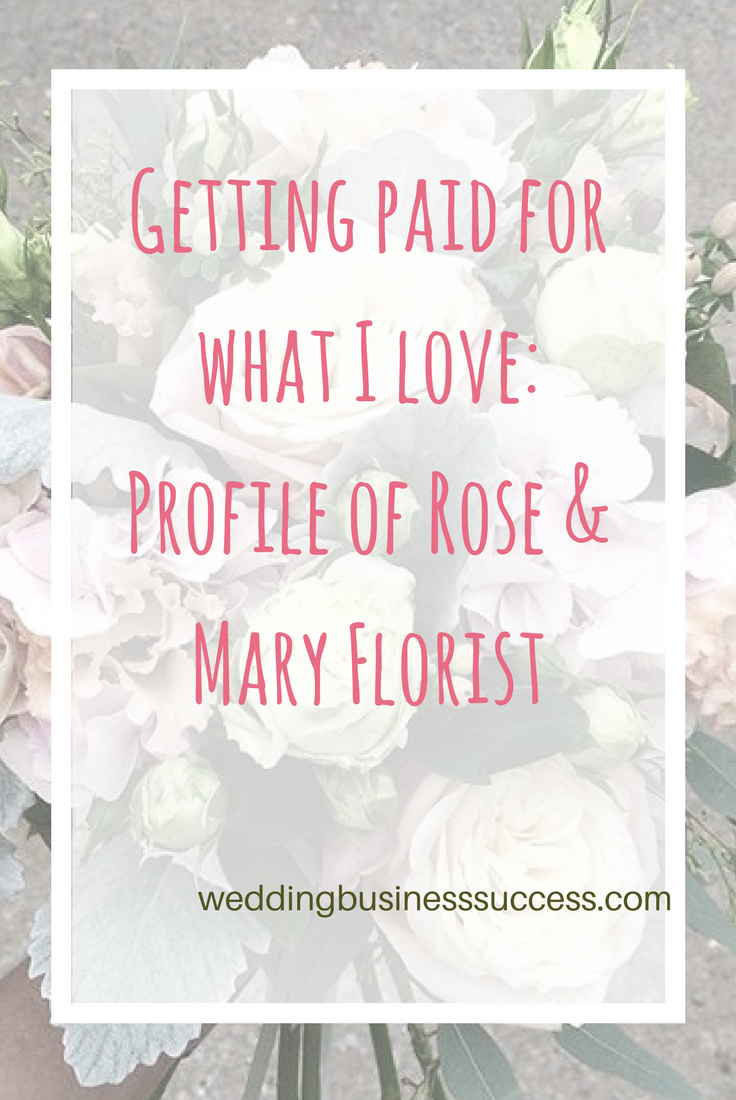London Wedding Florist Leonoor from Rose&Mary tells the story of her business