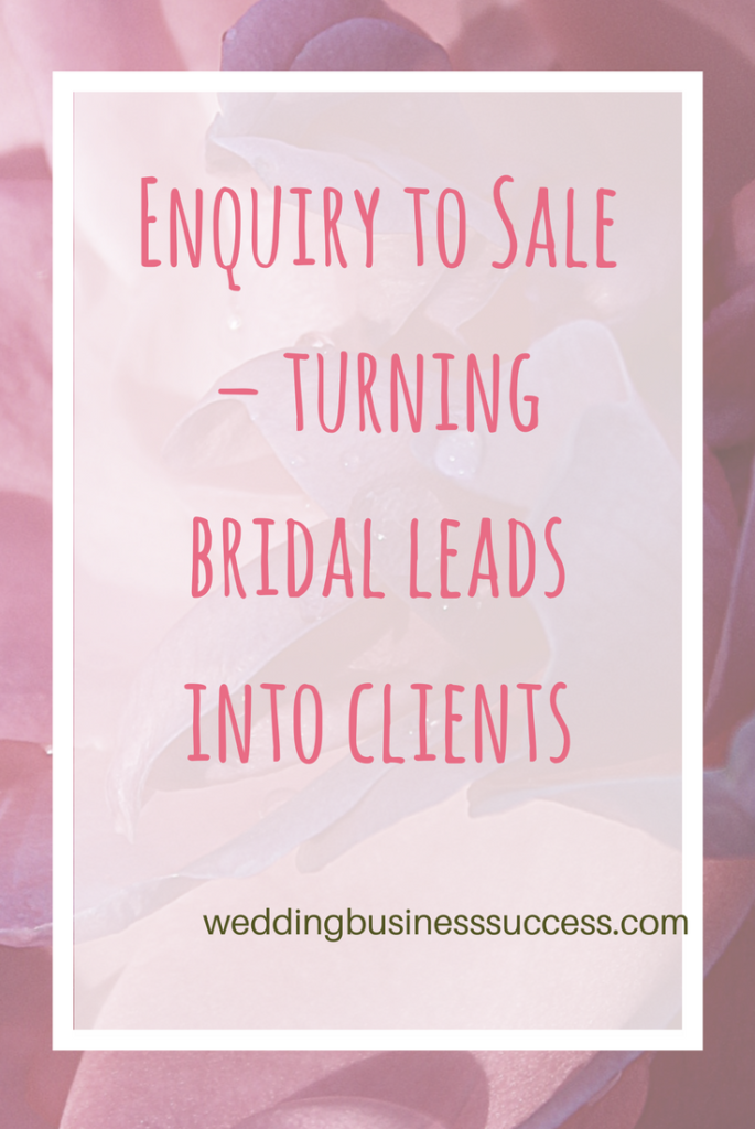 How to ensure you convert your bridal leads into paying clients